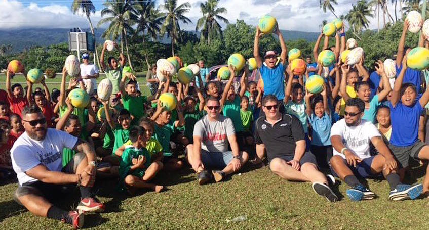 Joseph Parker launches initiative with a thousand balls for Samoan kids.